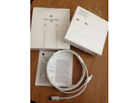 "GENUINE APPLE USB-C Charging Cable (2m) MJWT2FE/A TYPE C Model # A1646 For MacBook Light 12"" Display"