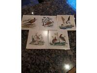 Hand painted tiles x5