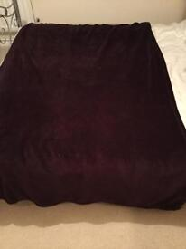 Purple / plum colour Debenhams throw for sale