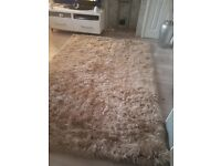 Beige neutral rug 160 by 230cms