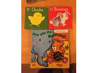 REDUCED PRICE | 3 Cardboard Childrens' Books | First Words Bunnies & Chicks | Are You My Mummy?