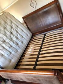 Large king size bed frame for sale. Price reduction.