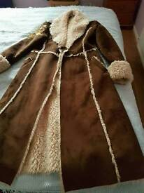 Brown sheepskin style coat