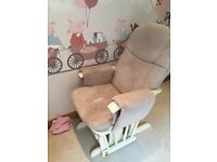 Nursing Chair - Tutti Bambini Deluxe Reclinable Glider Chair and Stool - Vanilla