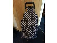 Argos Shopping basket blue polka dot £10