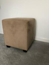 Suede Cube Stool from Next