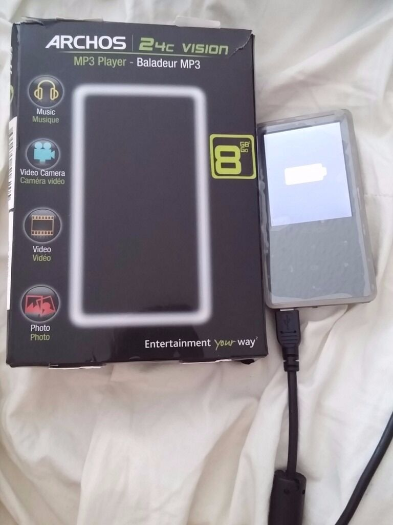 Archos 24C Vision 8GB MP3 Player with Camera for Photos/Videos + FM Radio