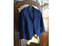 Boys Blue Slim M&S Autograph Suit 9-10 years old