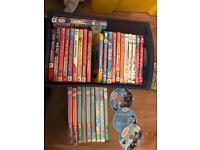 Kid DVDs & books - fireman Sam, Thomas, Peppa
