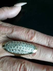 Faboulous 9ct Pave set Ring lovely weight
