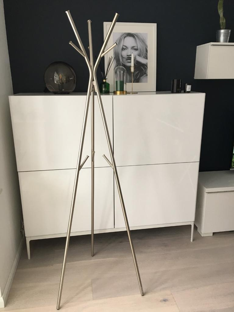 IKEA hanger/ stand for clothes, silver chrome, tripod, perfect condition