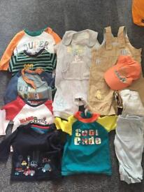 3-6 months baby boys clothes bundle 11 items