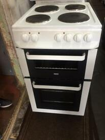 White zanussi 50cm electric cooker grill & fan oven good condition with guarantee