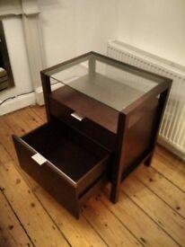 Dark Brown Filing Cabinet Crate and Barrel