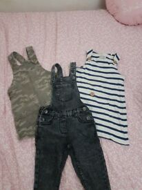 girls pinafore dresses and dungarees age 3