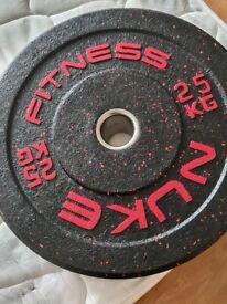 25 kg Olympic bumper plates x 2