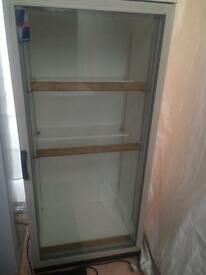 White glass door H 190cm W 70cm chilled drinks refrigerators good condition with guarantee
