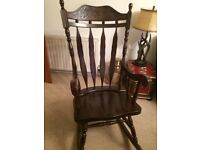 Rocking chair mahogany as new £50 buyer to collect