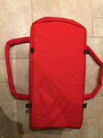 Phil and Teds cocoon baby carrycot red