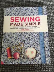 Sewing made simple book - new