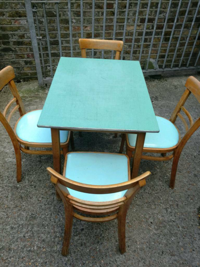 Retro table and 4 chairs not antique. | in Victoria, London | Gumtree