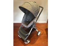 Stokke Scoot v1 Pushchair pram grey + rain cover