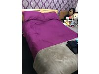 Solid double bed with or without mattress