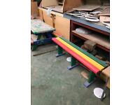 Bench for children's play area