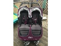 Baby Jogger City Mini Double Purple/Grey