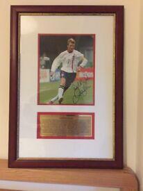 Authentic signed framed photo David Beckham