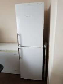 hotpoint white fridge freezer