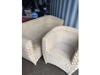 2 piece Wicker Suite