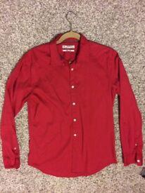 ESPRIT new mens slim fit shirt in red size medium ! Bargain