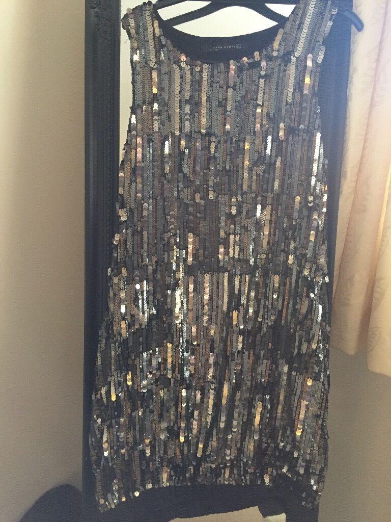 Metallic sequinned Zara dress