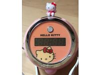 Hello Kitty projecting light display clock radio