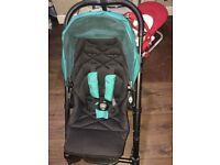 Mamas and papas urbo pram with Aton car seat. can clip car seat into the pram frame