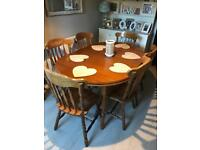 Large Rectory farmhouse dining table and 6 chairs