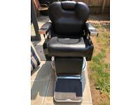 Nearly new black barber chairs with hair backwash basin salon