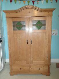 Antique Victorian Pine Knockdown wardrobe