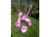 Peppa pig bike trike with extendable handle