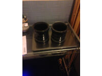 Two Wicks 110mm double ring black couplings
