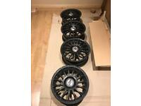 Black alloys x 4 corsa