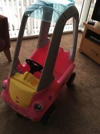 Little tikes pink cozy car