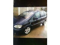 Vauxhall Zafira 2 l diesel good engine ! 7 Seater service history mot July needs little tlc £599