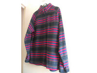 Womens Fleece Style Top Size L 18-20 Cotton Traders