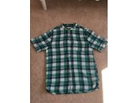 Zara Short Sleeve Shirt - Green/Blue Check - Boys Age 13-14