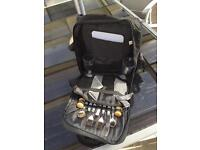 Barbecue picnic rucksack with plates barbecue cutlery cups chopping board bottle opener etc £5
