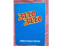 allo allo signed theatre program