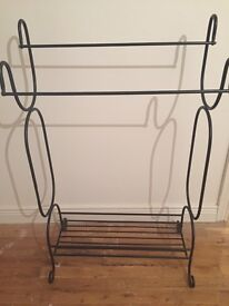 Wrought iron hall or towel stand