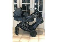 BRAND NEW IN BOX HAUCK DUETT 3 tandem double twin pram pushchair twins from birth